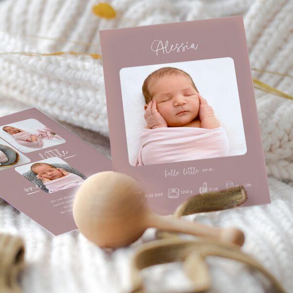 Geburtskarte Hello Little One