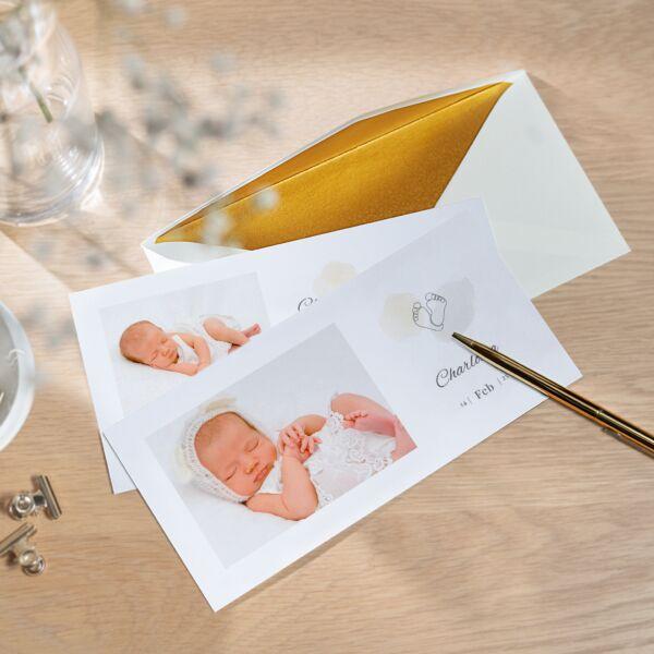 Geburtskarte Endlich da
