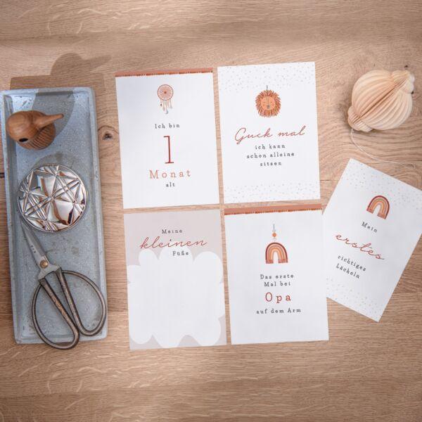 Meilensteinkarten - Boho